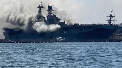 Photo of Explosión en buque de la Marina de EE.UU dejó al menos 18 heridos