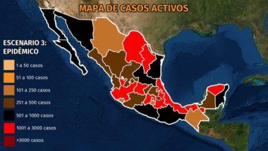 Photo of 30,000 casos activos en México: Durango y Zacatecas mantienen contagios en ascenso